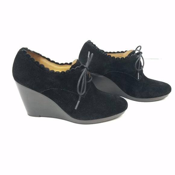 4719e38418c Jack Rogers Shoes - Jack Rogers Olivia Black Suede Wedge Booties
